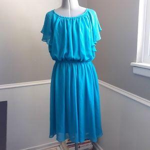 Calvin Klein ruffled slip dress